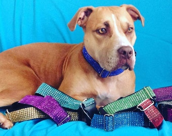 Bling Dog Collar - Dog Collars - Bling - Rhinestone Dog Collar - Dog Jewelry - Rhinestones - Pet Lover - Jeweled Dog Collar - Rescue Dogs