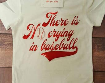 Baby clothes, There's no crying in baseball shirt, toddler top