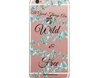 Floral iPhone Case, Inspirational Quote, Cute iPhone Case, Pretty Phone Case, Dessert Phone Case, Bow iPhone Case, Gel iPhone Case