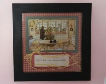 Swedish art framed print Carl Larsson picture, home decor, Scandinavian gift