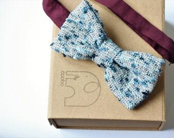 Silk Bow Tie, mens bow tie, wedding bow tie, groomsmen bowtie, gift for him, gift for men, pre-tied bowtie,duck egg bowtie,luxury bowtie