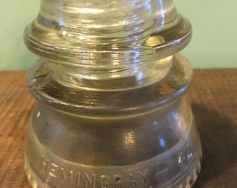9 Hemingray glass insulators
