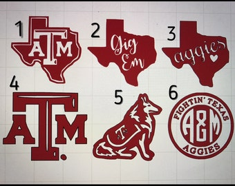 Texas A&M Aggies Decal Sticker