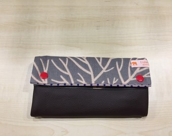 Wallet (cotton and leather) (version 1)