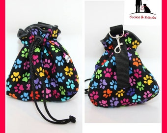 "Treat bag ""Colorful paw"""