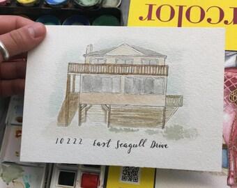 5x7 Watercolor House (Custom)