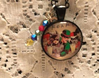 Batman Villain Glass Pendant Charm Necklace/Batman Jewelry/Villain Jewelry/Villain Necklace/DC Comic Necklace/DC Comic Jewelry/