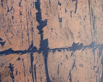"12"" x 24"" edged canvas ""Abstract Rain"""