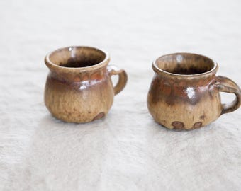 Pair of Vintage Ceramic Espresso Mugs