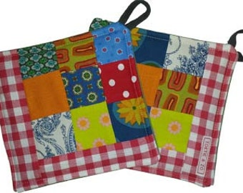 Set pot holders, Potholders-Retro 2