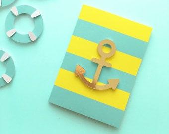 Future sailors die-cut greeting card
