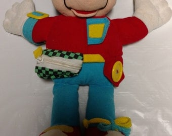 """DISNEY Learn To Dress Mickey Mouse Plush 14"""" 1992 By Mattel"""