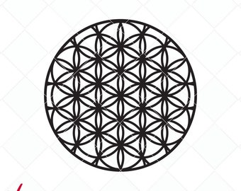 flower of life svg, flower of life bundle dxf, svg designs, original cutting files, clip art, life flower designs, Silhouette, Cricut