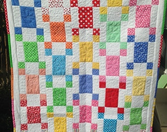 Quilt, baby, small colorful