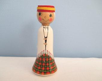 "Traditional Wooden Latvian Folk Peg Doll ""Alūksne""   ~  FREE SHIPPING!"