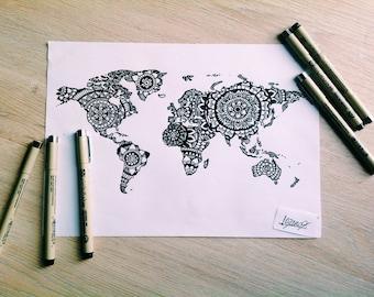 World Map Mandala