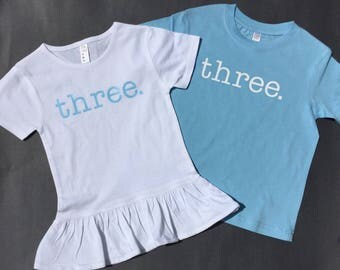 Twin Birthday Shirt -Twin Birthday Tees - Birthday Gift for Twins - Boy Girl Twin Birthday Tees - 3 tee - Birthday Tee - Twin Birthday gift
