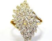 Diamond Cluster 14K Vinta...