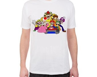 MARIO (color) hand-painted t-shirt