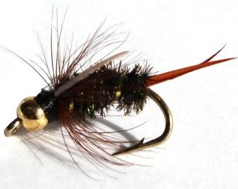 Fishing Flies - 3 Bead Head Price Nymphs - Sizes 14, 16, 18
