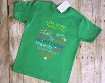 Girl Scout Shirt, girl scouts, girl scout t-shirt, girl scout t-shirts, troop shirts, girl scout gift, heart girl scout shirt