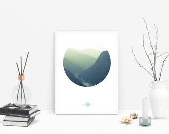 Mountains Wall - Montañas Lámina - Montañas Lámina Decorativa - Montañas Lámina Imprimible - Montañas Lámina Digital