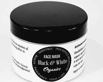 Organic Purifying Activated Charcoal face mask by Black&White Organics® 150ml