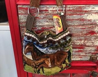 Horse Tapestry Shoulder Bag