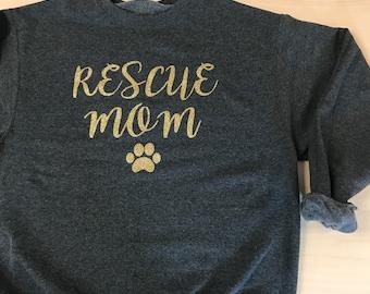 RESCUE MOM  Crewneck Sweatshirt
