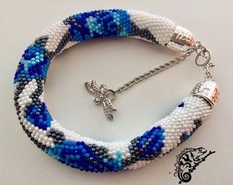 """Bracelet """"Blue Roses"""""""