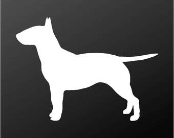 Bull Terrier Vinyl Decal Bully Dog Silhouette Car Window Laptop Sticker