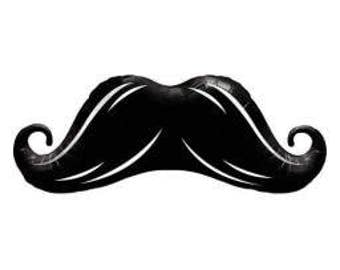 106CM BLACK MOUSTACHE SHAPED Balloon