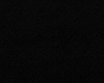 Felt - black craft felt 1 mm 40 x 45 cm