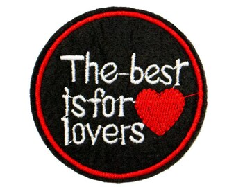 Free Shipping! Lovers Embroidered Iron-On Patch, Embroidery Applique