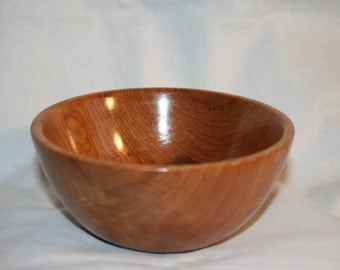 "Hand Turned Wood Bowl 5.25"" x 2.25"" Hand Crafted"