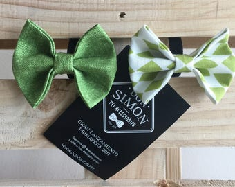 Green Pet Bowties / Green Dog bow tie / Green  Dog Bowties / Green  Pet Bowties