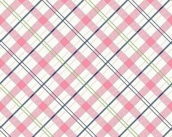 Pink Plaid Enchanted Riley Blake Fabric by the Yard