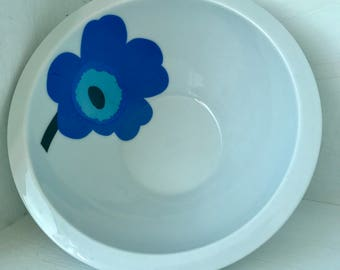 Pair of Marimekko Unikko bowls by Zac Designs