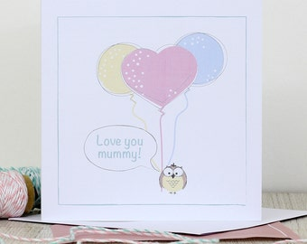 Mother's Day card - Love you Mummy