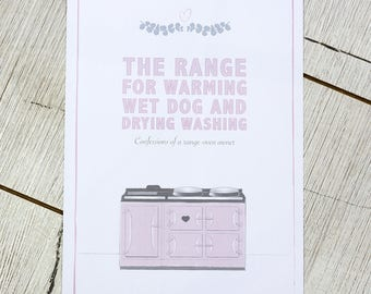 A4 wall print for your kitchen – The range, for warming wet dog and drying washing