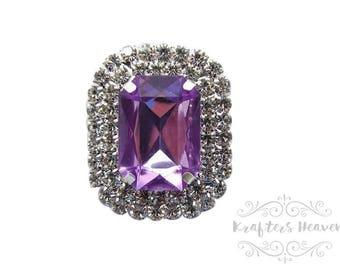 Lavender Pearl Rhinestone~Pearls~Wedding Brooch Bouquet~Crystal Flowers~Crystals~Jewelry Supplies~DIY Supplies~DIY Headbands~Craft Supplies~