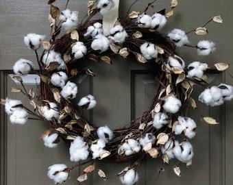 Cotton Wreath
