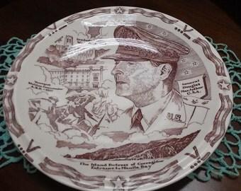Vernon Kilns Commemorative Plate-General Douglas MacArthur