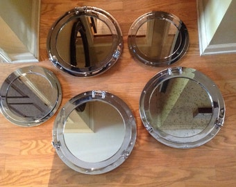 Porthole chrome mirrors