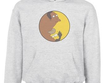 Simpsons hoodie Yin Yang Symbol Funny hoodie