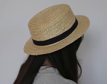Handmade straw hat, portuguese straw, unissex hat, summer hat, spring hat.