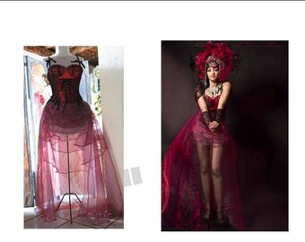 burlesque style dress