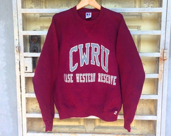 On Sale Vintage CWRU Big Logo Russell Athletic Sweatshirt Hip Hop Size M