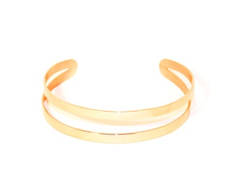Bracelet/bangle pink gold double row