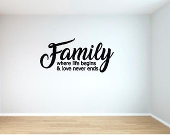 Family Wall Decal/Wall Decor/Family Quotes